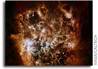 Image: Large Magellanic Cloud Galaxy In Infrared Light
