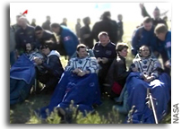 Expedition 35 Astronauts Land in Kazakhstan
