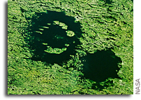 Clearwater Lakes - Dual Impact Craters