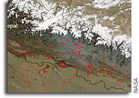 Image from Space: Fires in Nepal