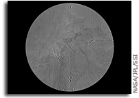 Map of Enceladus' South Pole