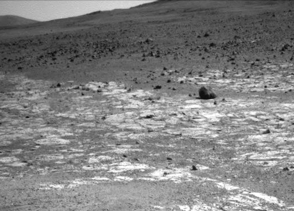 Mars Rover Opportunity Working at Edge of 'Solander ...