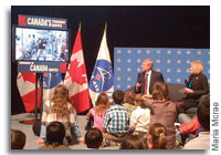 Prime Minister Stephen Harper Chats With Chris Hadfield