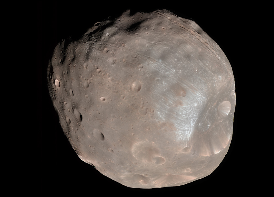 Asteroids, boulders, impacts, collisions, story of grooves on Martian moon Phobos