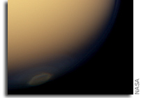 Ice Cloud Indicates Fall at Titan's South Pole