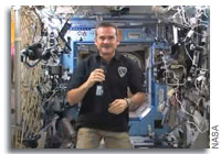 Chris Hadfield's First Live Media Interview