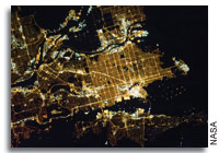 Vancouver, British Columbia, Canada At Night As Seen From Orbit
