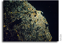 Tripoli, Libya At Night As Seen From Orbit