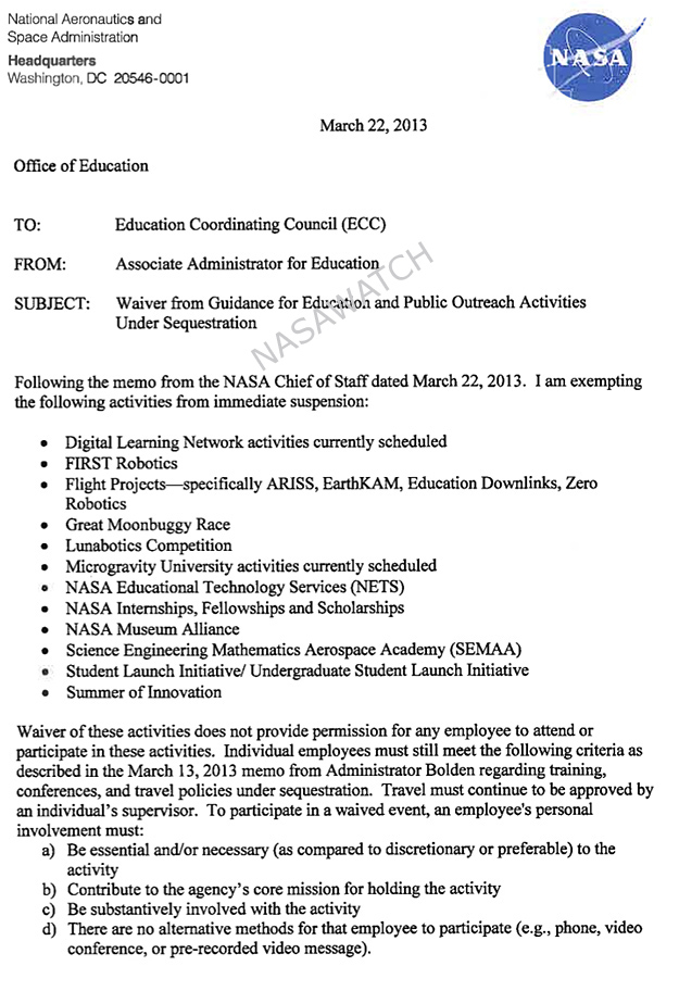 Letter from NASA AA for Education Leland Melvin to ...