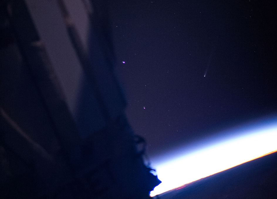 Comet ISON As Seen from the ISS - SpaceRef