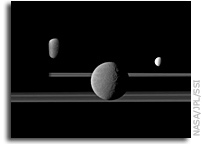 Moons and Rings of Saturn Are Made of Very Ancient Material