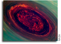 A Large Hurricane At Saturn's North Pole