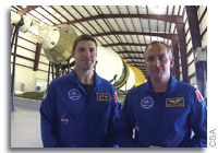 Canadian Astronauts Hansen and Saint-Ja