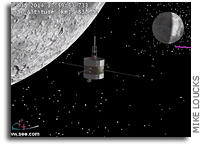 Video: ISEE-3 Reboot Trajectory Around The Moon
