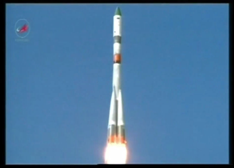 Russian Spacecraft Launches to Resupply the Space Station