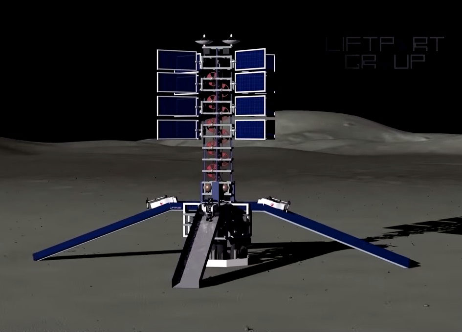 video  lunar space elevator infrastructure overview