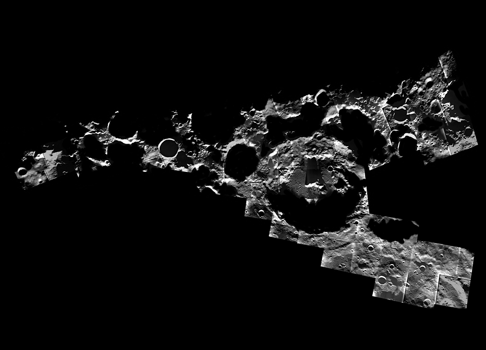 Saturn South Pole Craters At The Moon's ...