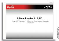 Orbital and ATK Presentation and SEC Form 8-K Filing on Merger