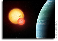 A New Planet Orbiting Two Stars