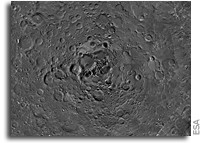 Looking Down At The Moon's North Pole