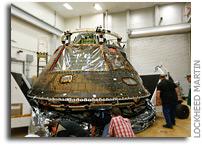 Orion EFT-1 Crew Module Arrives in Colorado