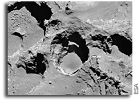 Active Pits Found on Rosetta's Comet