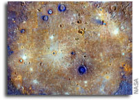 Caloris Basin on Mercury As Seen From Orbit