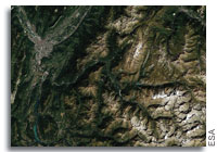 Earth From Space: Grenoble and the Alps, France