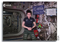 ESA Astronaut Cristoforetti Sends Greetings to #SpaceApps Participants