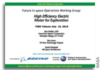 NASA FISO Presentation: High-Efficiency Electric Motors/Generators for Exploration