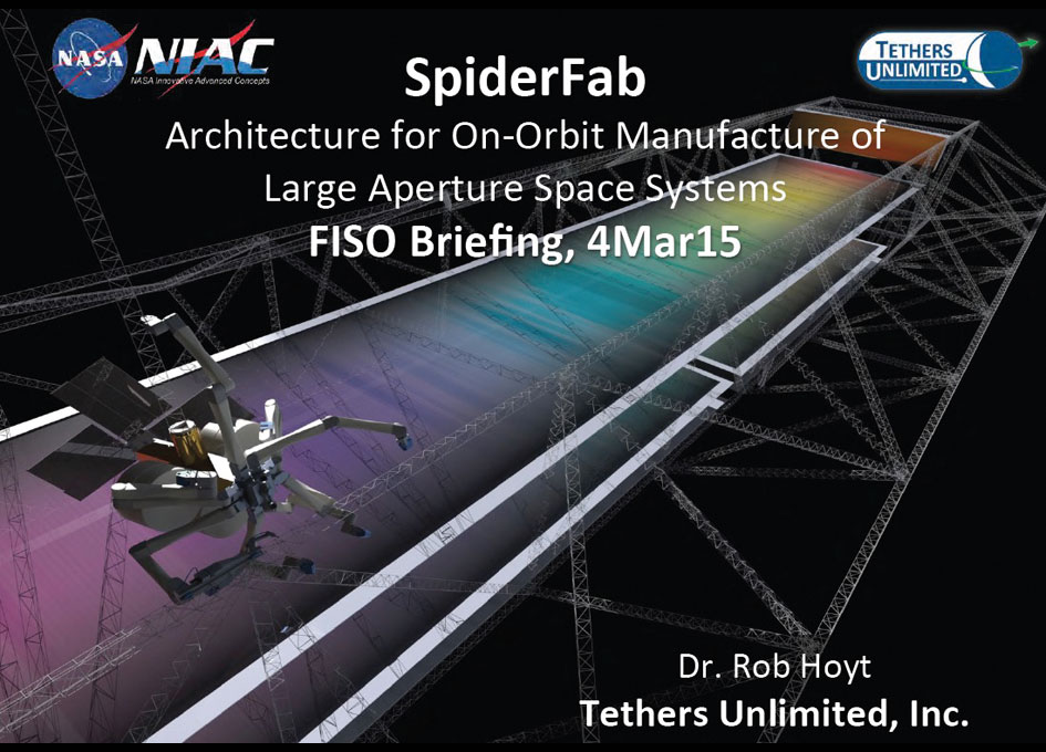 Nasa fiso presentation spiderfab architecture for on for Nasa architecture