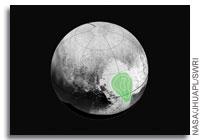 'Frozen Carbon Monoxide in Pluto's Heart' from the web at 'http://images.spaceref.com/news/2015/frozen_carbon_monoxide_pluto_071715_200.jpg'