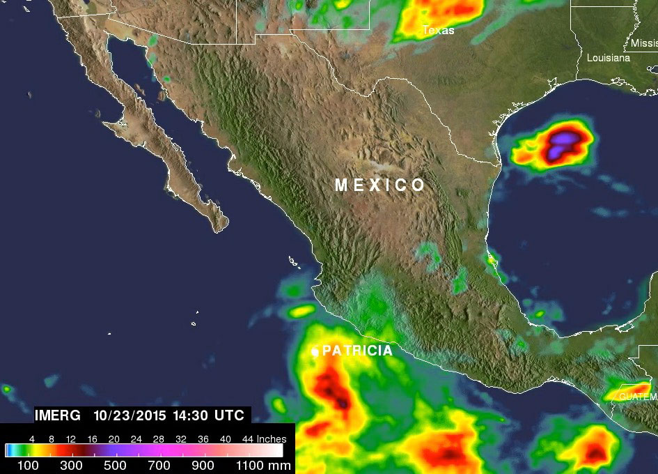 Video Hurricane Patricia Forming and Record Rain  SpaceRef