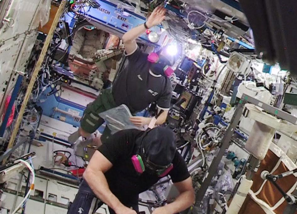 Astronauts reentering the U.S. segment.
