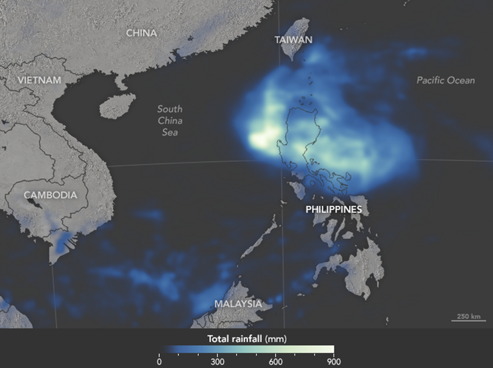 Typhoon Koppu Brings Extreme Rainfall to the Philippines