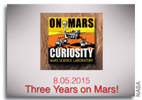 Curiosity Rover - Three Years on Mars