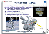 Neptec Awarded Phase A Contract for Space Station Dextre Deployable Vision System