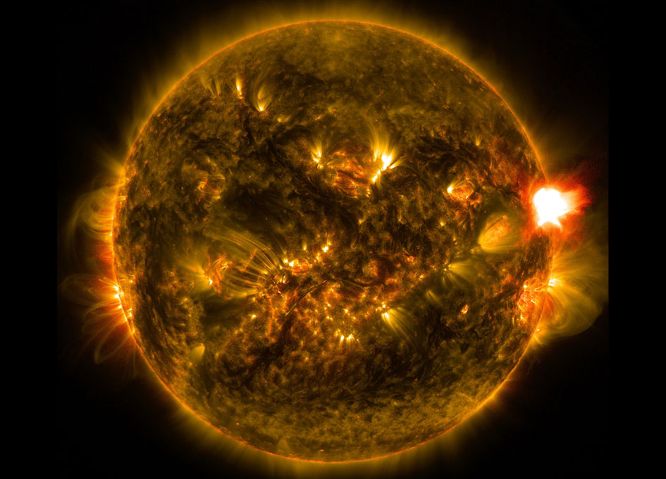 First Notable Solar Flare of 2015 - SpaceRef