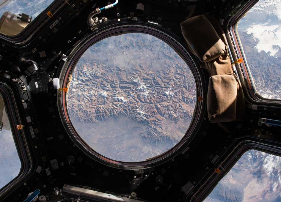 Looking Out Of The Space Station Cupola - SpaceRef