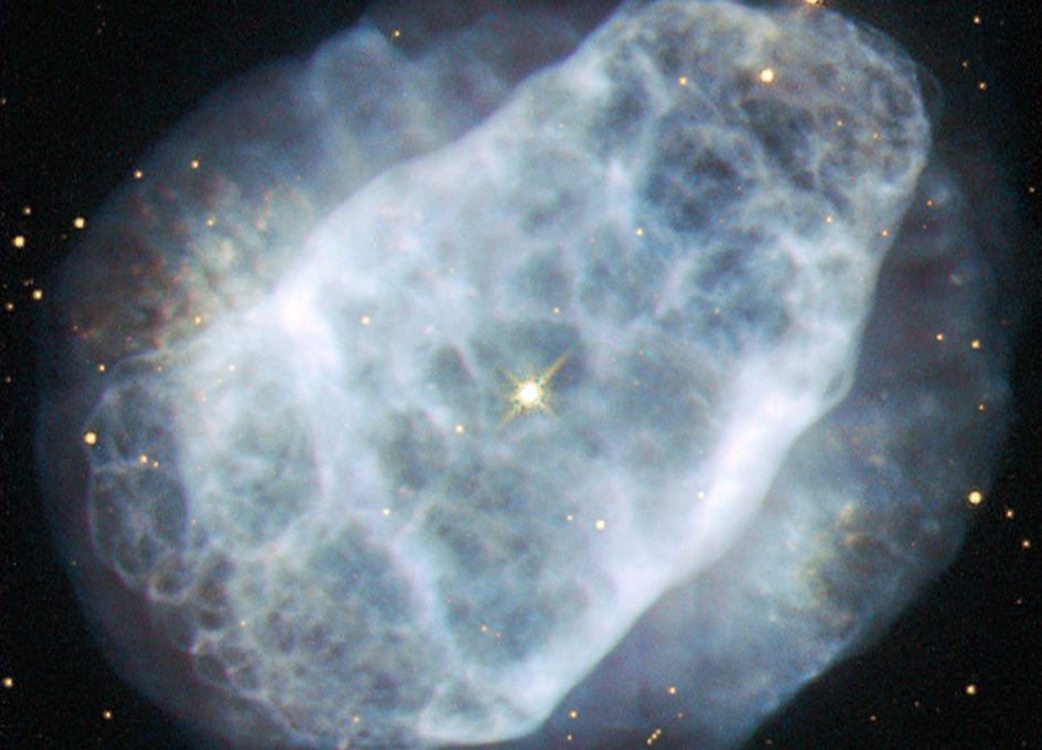 Hubble View of a Nitrogen-Rich Nebula - SpaceRef