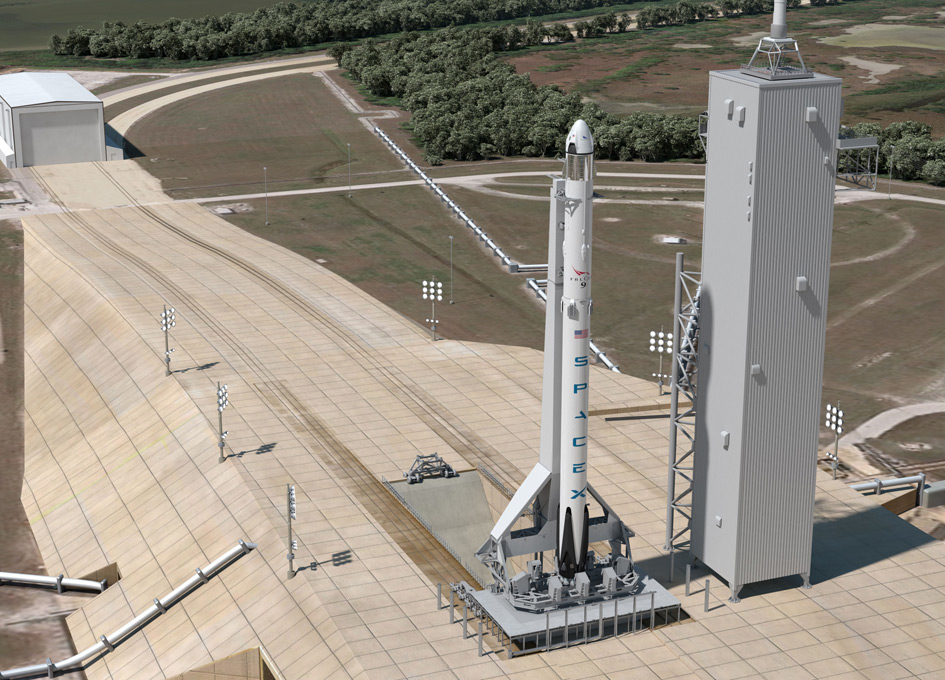 SpaceX Concept of Commercial Crew Launch Operations at Pad ...