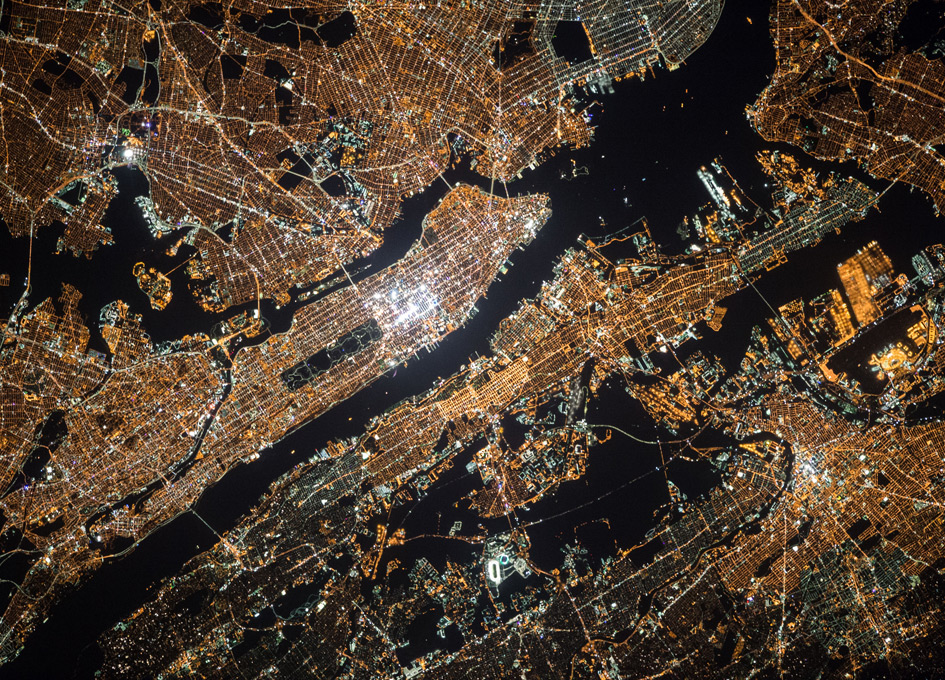 New York City At Night From Orbit - SpaceRef