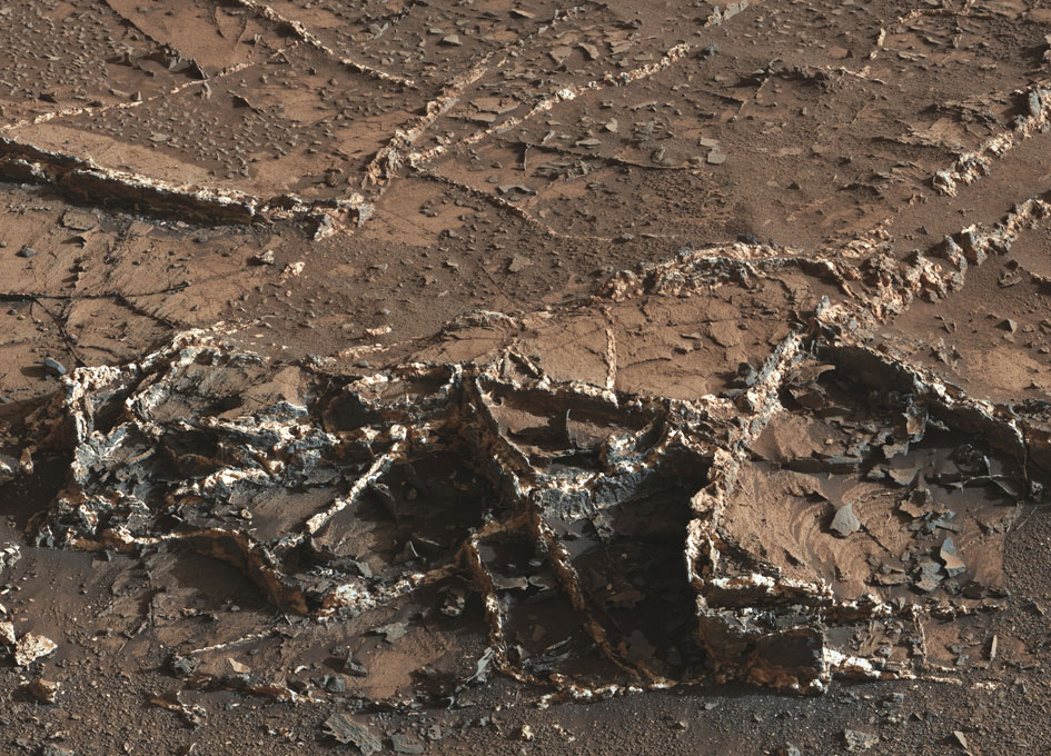 Prominent Veins at Garden City on Mount Sharp, Mars - SpaceRef
