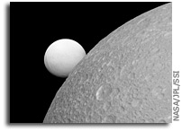 Comparing Enceladus and Dione