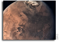 Full Disc of Mars As Seen by India's Mars Orbiter