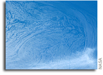 Orbital View of Currents and Waves Off Of The Baja Coast