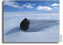 Antarctic Meteorite As It Was Found