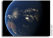 Orbital View of Tropical Cyclone Amos As It Grows