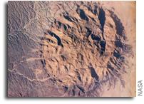 Orbital View of Mt Brandberg Nature Reserve in Nambia, Africa