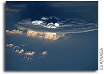Cumulonimbus Clouds Viewed From Orbit